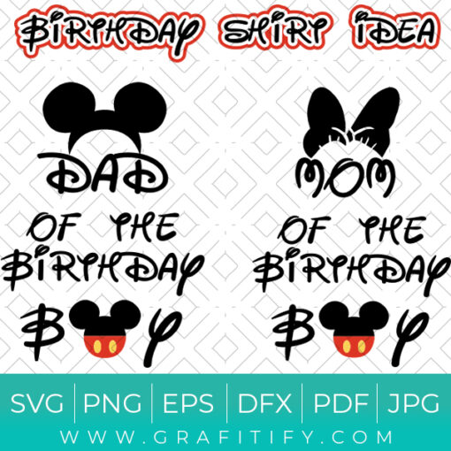 Disney Birthday shirt idea SVG