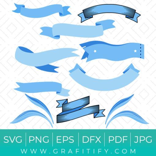 Blue Ribbon SVG
