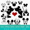 Disney Mickey Mouse and Minnie Mouse SVG