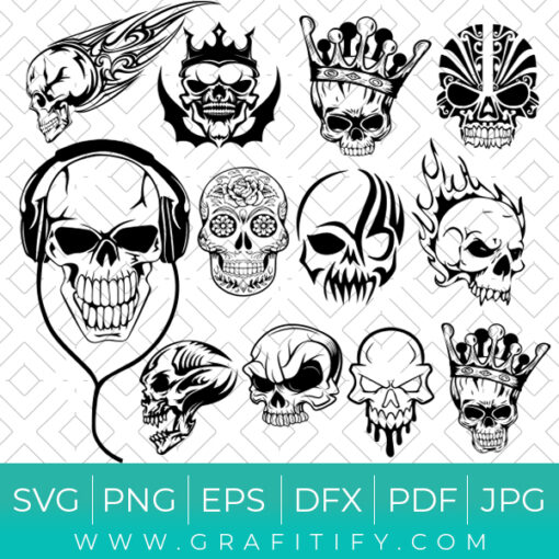Skull FACE SVG