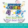 baby shark 4th birthday SVG