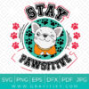French Bulldog Stay Pawsitive Funny SVG