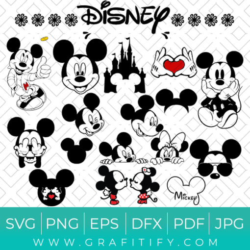 Disney Mickey Mouse - Minnie Mouse SVG
