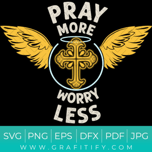 Religious Conversion (Pray More Worry Less) SVG