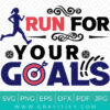 Run For Your Goals SVG