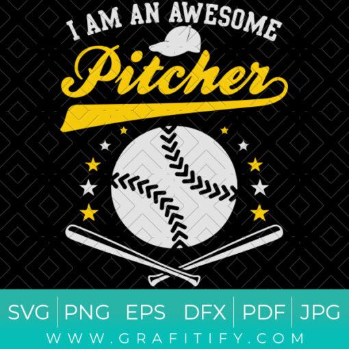 Softball Awesome Pitcher SVG