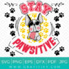 French Bulldog (Stay Pawsitive) Funny SVG