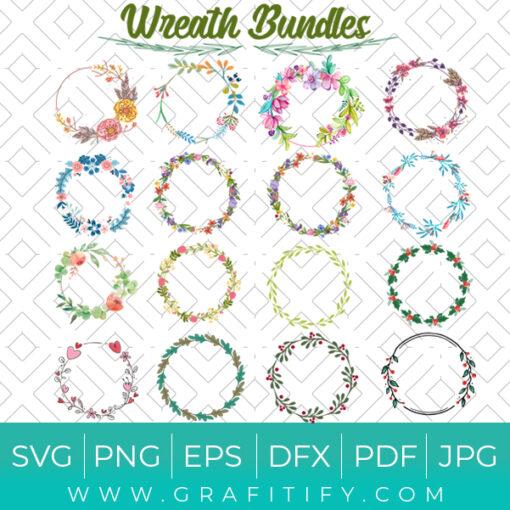 wreath bundle svg