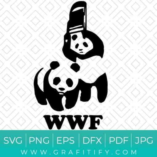 WWF Funny Panda Bear Wrestling SVG
