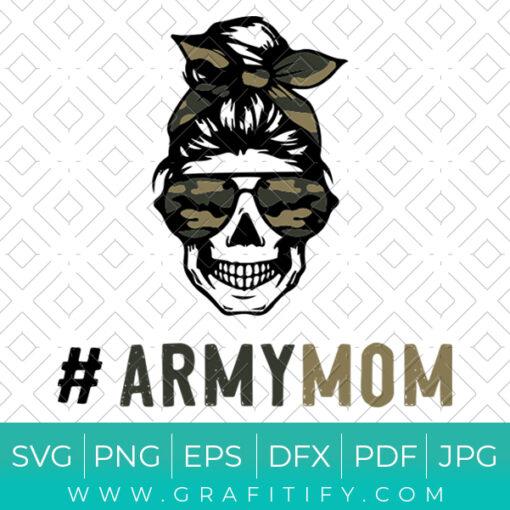 Camo Mom Skull SVG