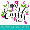 Happy Earth Day SVG