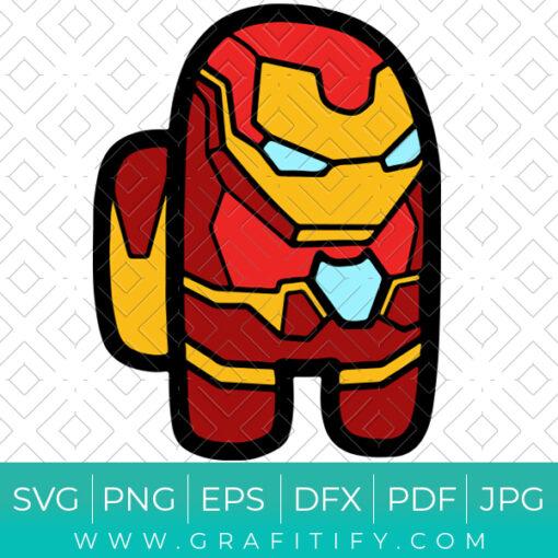 Among Us Iron Man Superhero SVG