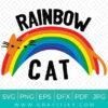 Rainbow Cat SVG