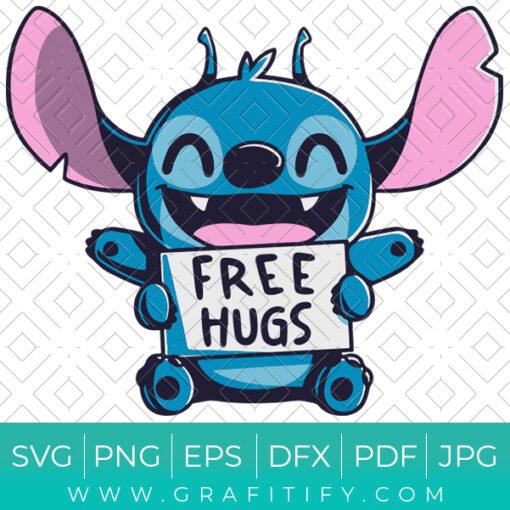 Stitch Free Hugs funny SVG