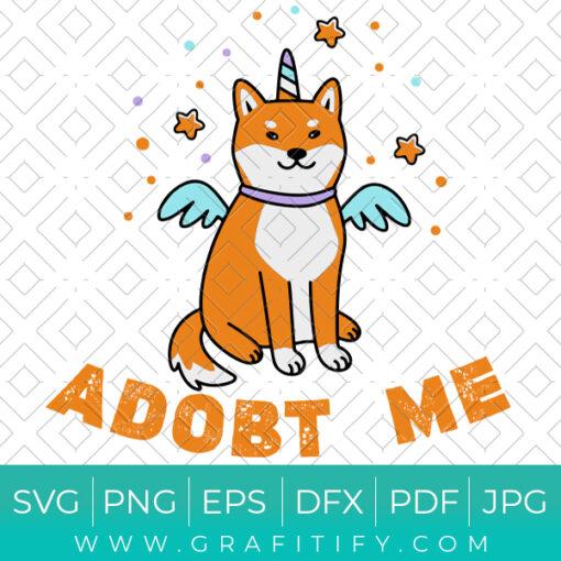 Kawaii dog of shiba UNICORN ( Adobt Me ) SVG