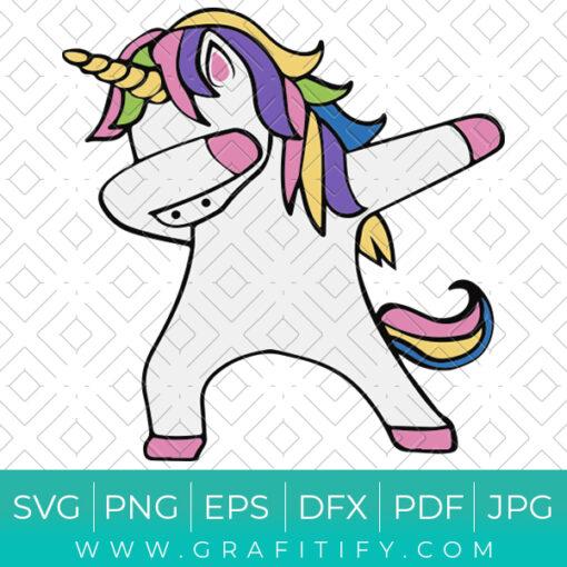 Dabbing Unicorn Svg