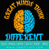 Great Minds Think Different SVG