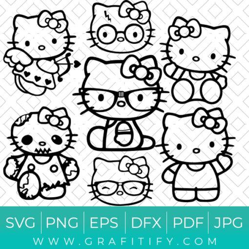 Hello Kitty ( Girl Power) SVG