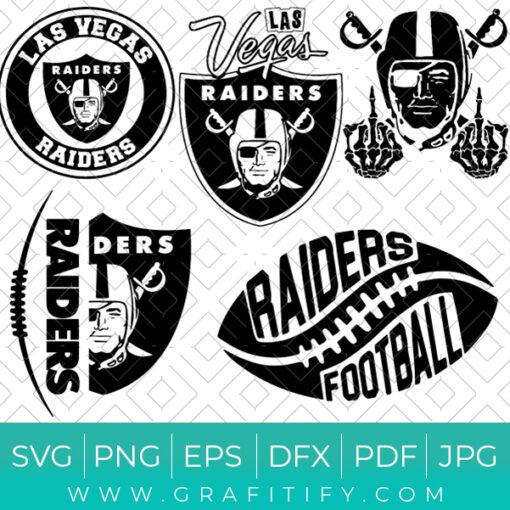 Las Vegas Raiders Football SVG Bundle