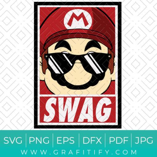 Swag Mario SVG