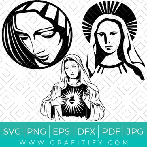 Virgin Mary SVG