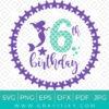 My 6th Birthday Mermaid SVG