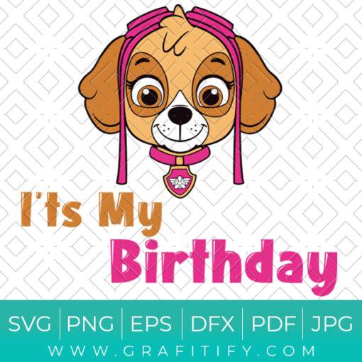 Skye Paw Patrol Birthday LOGO SVG