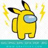 Among Us Pikachu Superhero SVG