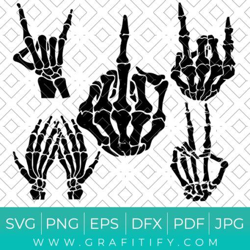 Skeleton Hands SVG