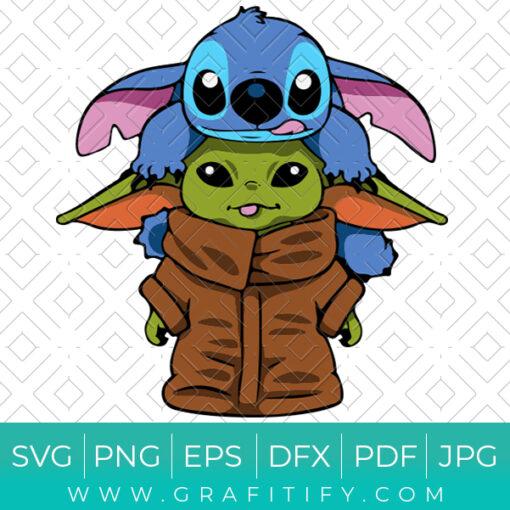 Disney Stitch And Baby Yoda SVG