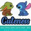 Disney Stitch And Baby Yoda (Cuteness) SVG