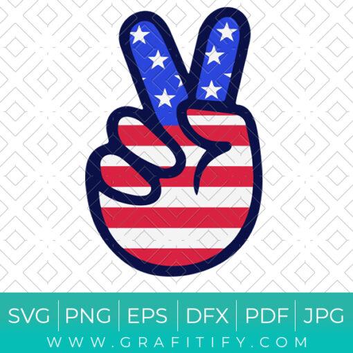 USA Peace Sign SVG