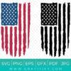 Distressed US Flag SVG