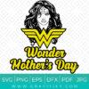 Happy Wonder Women's Day SVG
