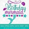 Birthday Mermaid svg