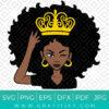 African Americans Black Queen SVG