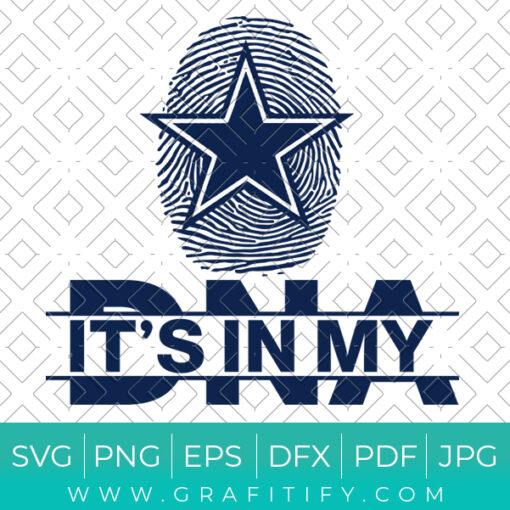 It's In My Dna Dallas Cowboys Svg