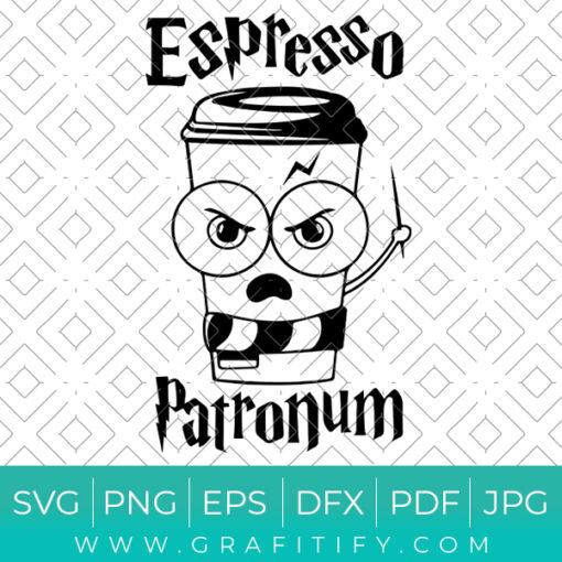 Espresso Patronum Funny Harry Potter Svg