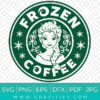 Disney Frozen Coffee Starbucks SVG