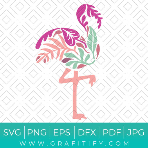 Floral Flamingo SVG