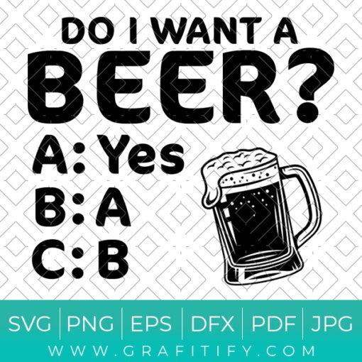 Funny Beer SVG