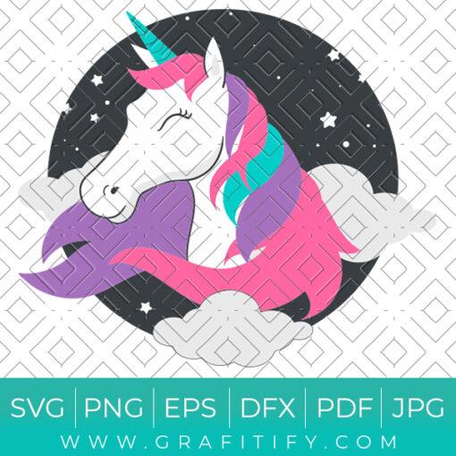 Happy Unicorn SVG