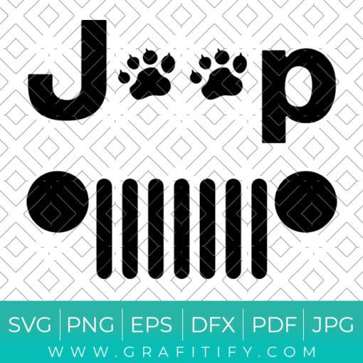 Paws Jeep design Svg Cut File