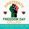 Juneteenth Freedom Day SVG