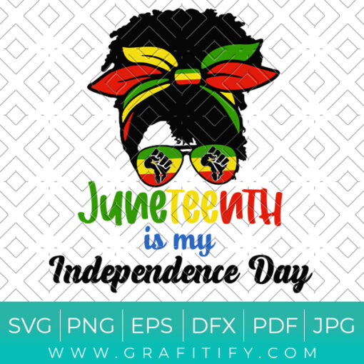 Juneteenth Is My Independence Day Svg