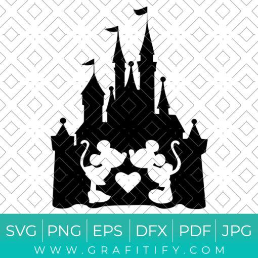 Mickey Mouse Disney Castle SVG