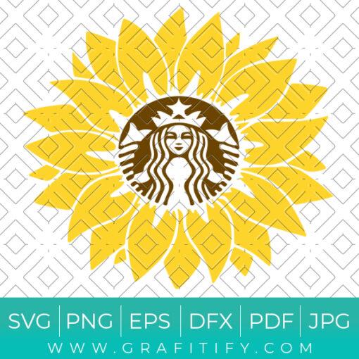Starbucks Sunflower svg