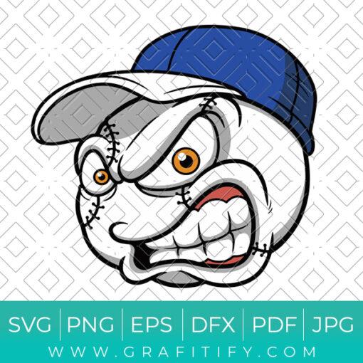 Angry Baseball Svg