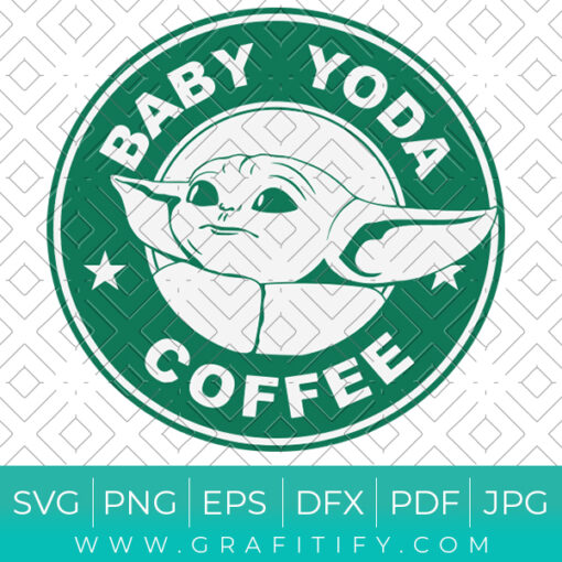 Baby Yoda Coffee Starbucks Svg