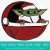 Star Wars Baby Yoda Santa Svg